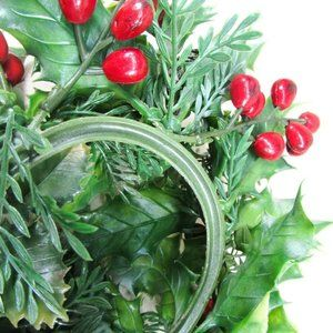 unknown Holiday - Christmas Holiday Candle Ring Plastic Greenery